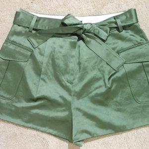J CREW Italian Belt Satin Party Shorts 6 NEW $168